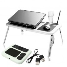 Маса за лаптоп с охладител, регулиращи крачета и 2 вентилатора
