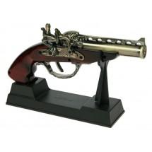 Декоративен старинен пистолет - запалка със стойка