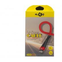 USB кабел за зареждане тип Fish bone, S-23, Micro - KLGO