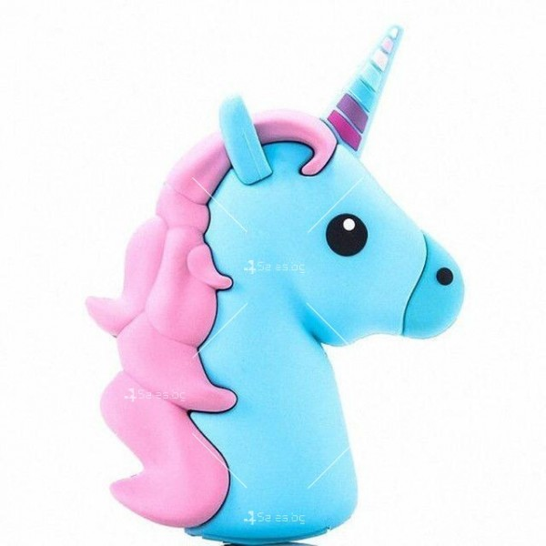 Външна батерия Cartoon mobile power supply - Unicorn in pink and blue TV729