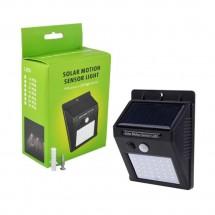 Соларна безжична LED стенна лампа с PIR датчик за движение и CDS нощен сензор