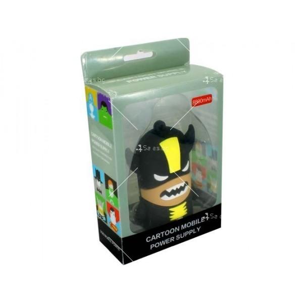 Външна батерия Cartoon mobile power supply - wolverine TV728 2