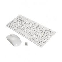 Мини клавиатура и мишка в бял цвят 2.4G