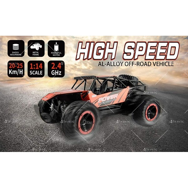 Детски акумулаторен автомобил с дистанционно управление в мащаб 1:14, TOY CAR-18 7