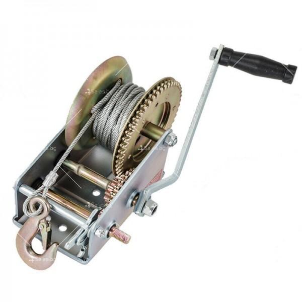 Ръчна лебедка 453 кг / 1000LB с 10 метра стоманено въже 2
