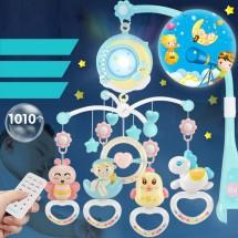 Пъстроцветна въртяща се играчка за детско легло