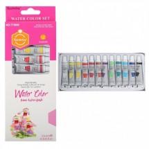 Акварелни бои за рисуване – 12 цвята Water colors Keep smiling