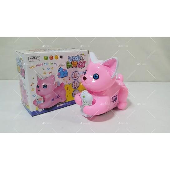 Музикална играчка коте със светлинни ефекти Lovely baby cat