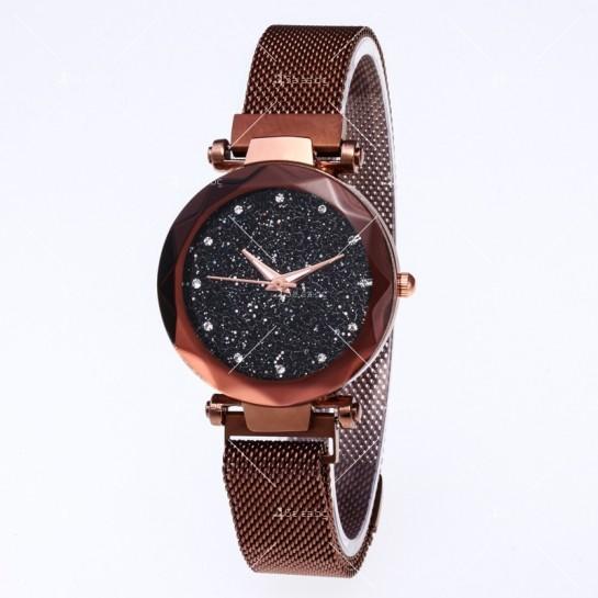 """Модерен дамски часовник """"Звездно небе"""" с магнитно закопчаване W WATCH2"""