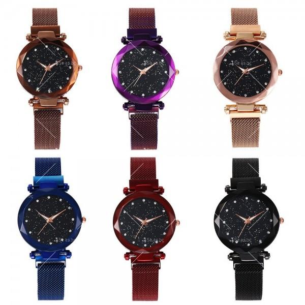 """Модерен дамски часовник """"Звездно небе"""" с магнитно закопчаване W WATCH2 3"""