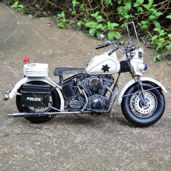 Декоративна мини-фигурка полицейски мотоциклет 2