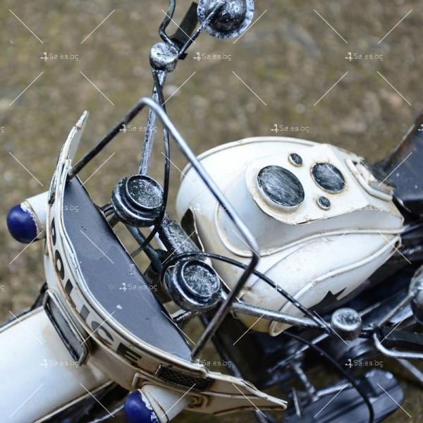 Декоративна мини-фигурка полицейски мотоциклет 4