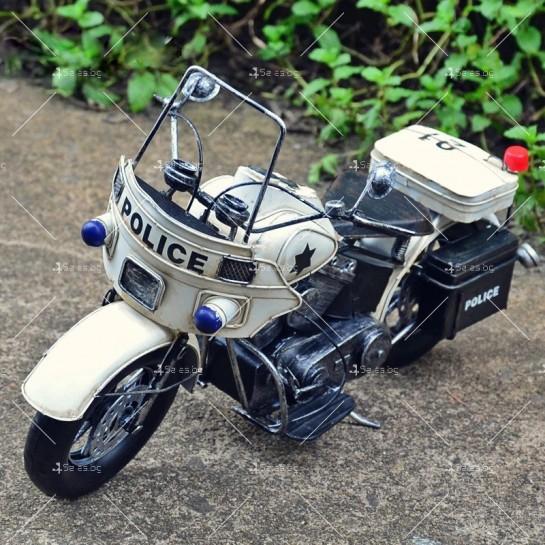 Декоративна мини-фигурка полицейски мотоциклет