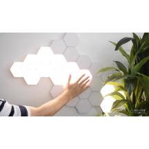 Квантово светлинна светодиодна шестоъгълна лампа - модулно докосване
