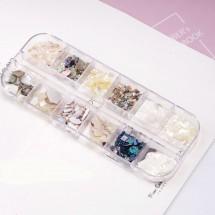 Комплект от 12 вида декорация на маникюр и педикюр, Zjy67