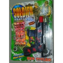 Комплект пистолет играчка с гел топчета Super airgun