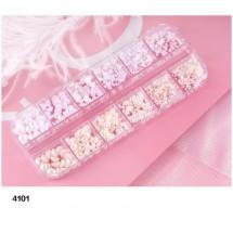 Комплект от 12 вида перлени декорации на маникюр и педикюр, Zjy73