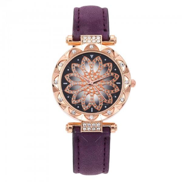 Дамски луксозен часовник с инкрустирани кристали W WATCH4 4