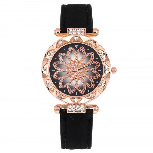 Дамски луксозен часовник с инкрустирани кристали W WATCH4 5