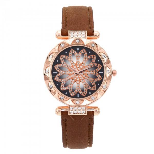 Дамски луксозен часовник с инкрустирани кристали W WATCH4
