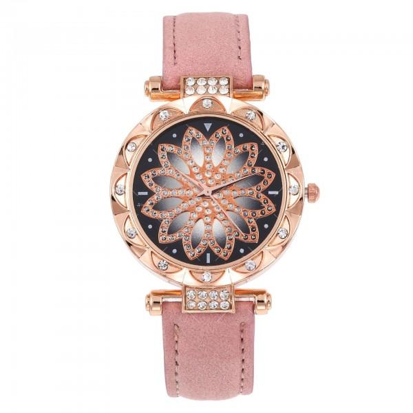 Дамски луксозен часовник с инкрустирани кристали W WATCH4 3