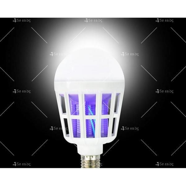LED крушка против комари с адаптор за стена TV313 3