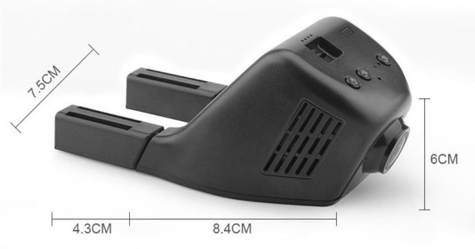 Видеорегистратор с две камери + WiFi и 1080p качество AC41 11
