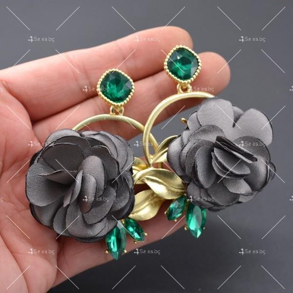Модернизирани ретро обеци в Бароков стил с издължен непал и формата на роза A2 4