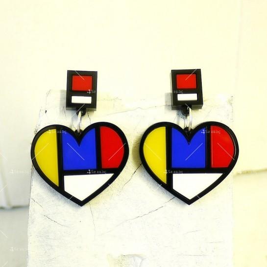 Арт обеци във формата на сърце А17