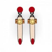Модни обеци с маникюр и пръстен А22