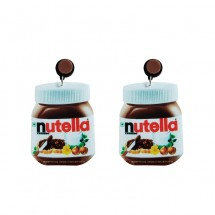 Обеци със бурканче на течен шоколад Nutella А25