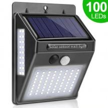 Соларна LED лампа за стена за открито със 100 диода H LED25