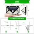 Водоустойчива соларна LED лампа за навън с 3 режима на работа H LED8 2