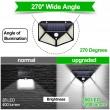 Водоустойчива соларна LED лампа за навън с 3 режима на работа H LED8 4