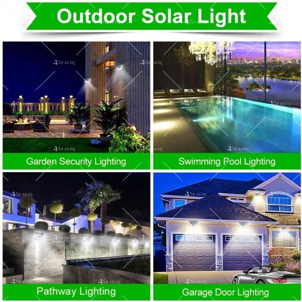 Водоустойчива соларна LED лампа за навън с 3 режима на работа H LED8 5
