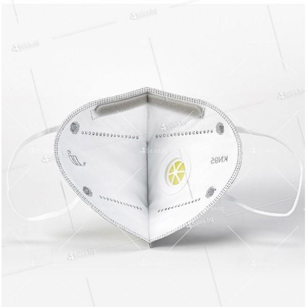 Защитна предпазна маска KN95 Респиратор за лице с активен въглен 7степенна защита 3