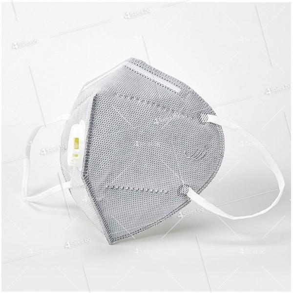 Защитна предпазна маска KN95 Респиратор за лице с активен въглен 7степенна защита 4
