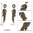 Тропически обеци папагал от цветни кристали А60 5