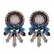 Стилни дамски обеци с кристали в три различни цвята А61 3