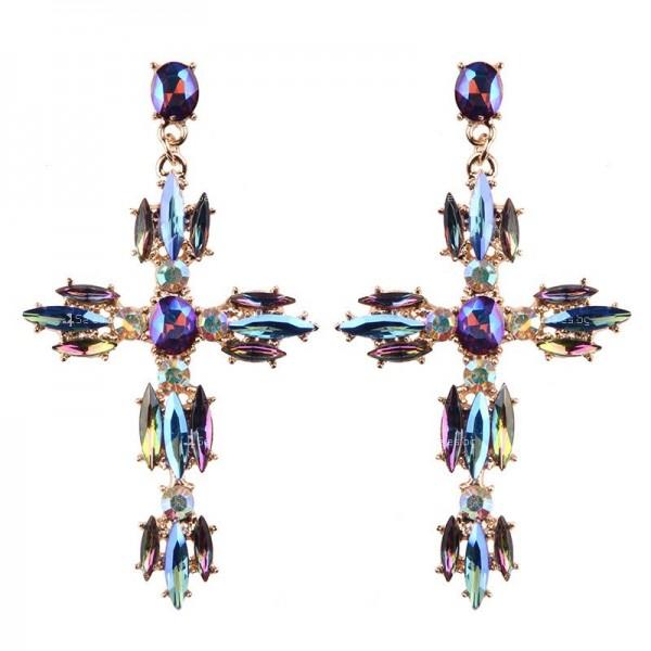 Големи обеци във формата на кръст А64 1