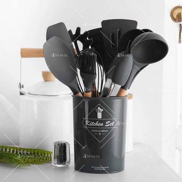 Кокетен силиконов готварски комплект от 9/10/12 части в пастелен цвят 20