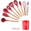 Кокетен силиконов готварски комплект от 9/10/12 части в пастелен цвят 28