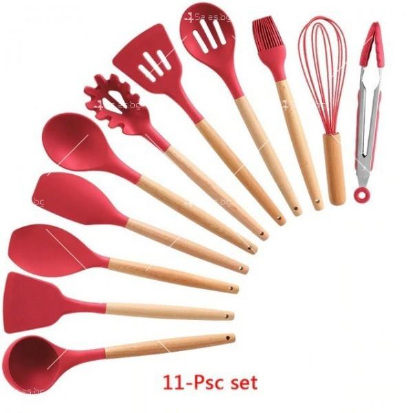 Кокетен силиконов готварски комплект от 9/10/12 части в пастелен цвят 31