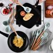 Кокетен силиконов готварски комплект от 9/10/12 части в пастелен цвят 32