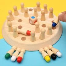 Настолна дървена игра за развитие на паметта