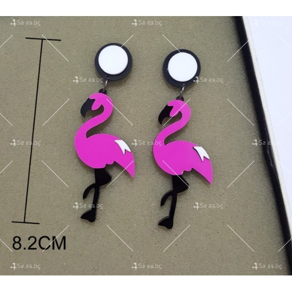 Дамски обеци фламенго в два различни цвята А75 2