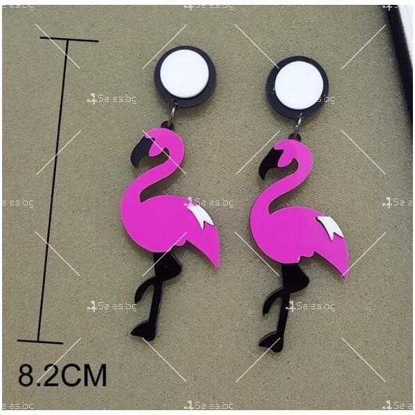 Дамски обеци фламенго в два различни цвята А75