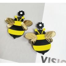 Пролетни обеци във формата на пчеличка А79