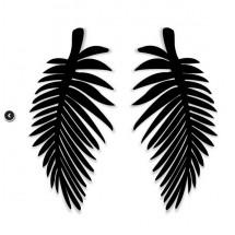 Екзотични дамски обеци палмово листо А96