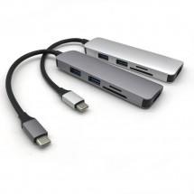 Мултифункционален адаптер от TYPE-C 3-port USB 3.0 и четец за SD и TF карти CA81
